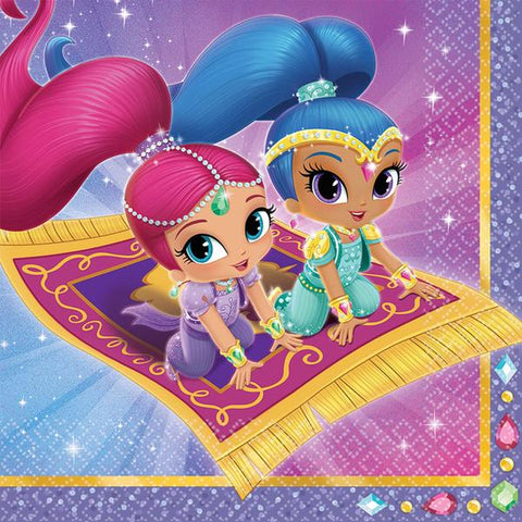 Shimmer & Shine Party Napkins - Yakedas Party and Giftware