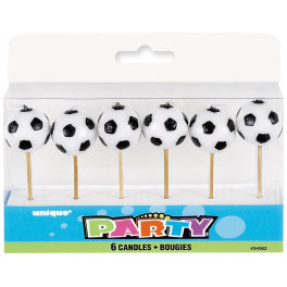 Soccer Party Candles - Yakedas Party and Giftware