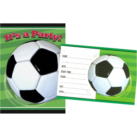 Soccer Party Invitation Cards - Yakedas Party and Giftware