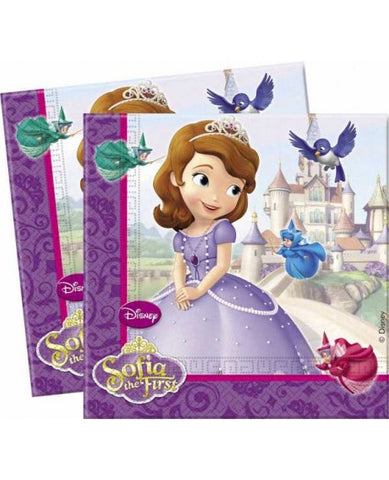 Sofia the First Party Napkins - Yakedas Party and Giftware