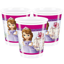 Sofia the First Party Cups - Yakedas Party and Giftware