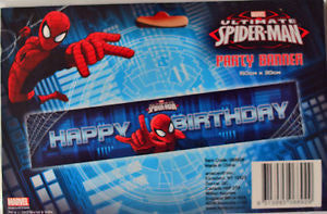 Spider - Man Party Banner - Yakedas Party and Giftware
