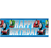 Thomas Party Banner - Yakedas Party and Giftware