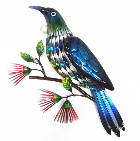 Tui On a Branch – Metal Wall Hanging - Yakedas Party and Giftware