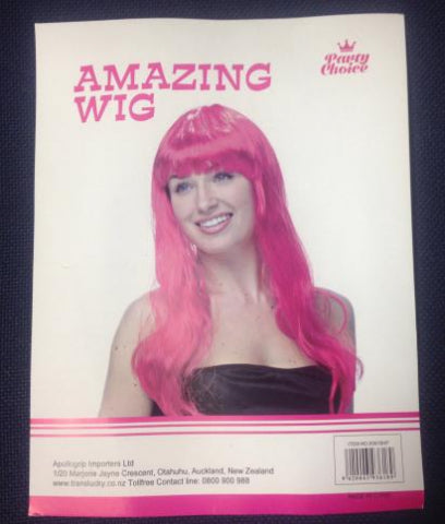 Long Straight Wig - Hot Pink - Yakedas Party and Giftware