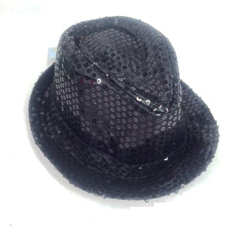 Shinning Hat Sequin Black