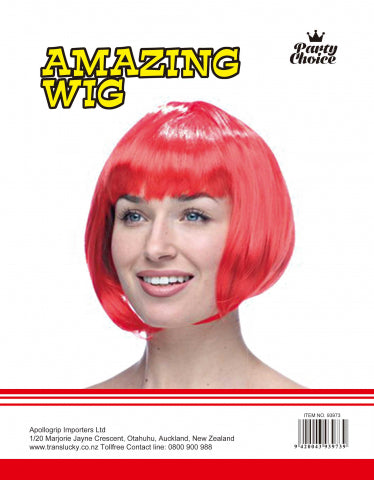 Short Hair Wig - Red - Yakedas Party and Giftware