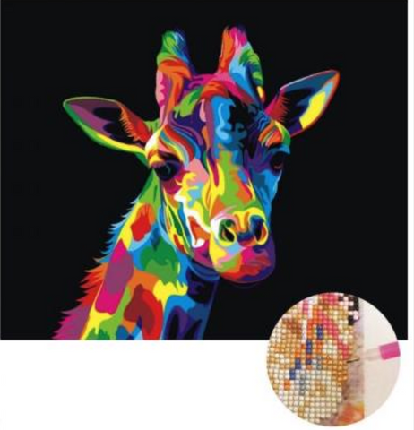 Diamond Art - COLOURFUL GIRAFFE