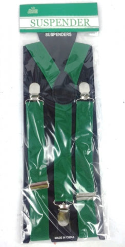Adult Suspender Green - Yakedas Party and Giftware