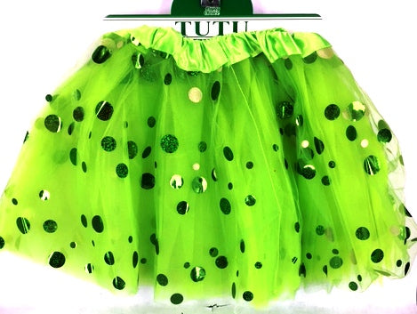 Green Shining Dot Tutu
