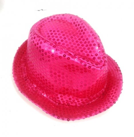 Shinning Hat Sequin Hot Pink