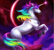 Diamond Art - MULTI COLOURED UNICORN