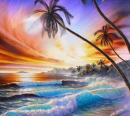 Diamond Art - SURF BEACH SCENE