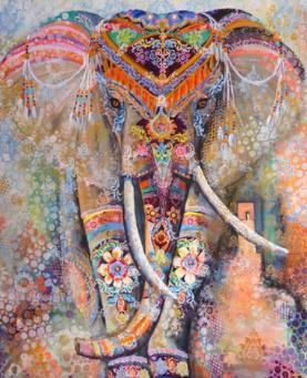 Diamond Art - MULTI COLOUR ELEPHANT