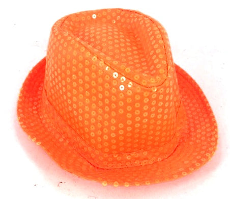 Shinning Hat Sequin Orange