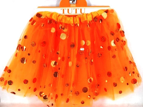 Orange Shining Dot Tutu - Yakedas Party and Giftware
