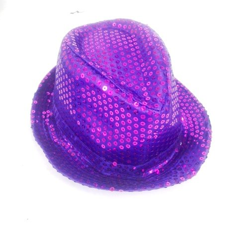 Shinning Hat Sequin Purple