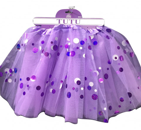 Purple Shining Dot Tutu - Yakedas Party and Giftware