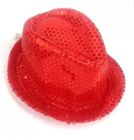 Shinning Hat Sequin Red