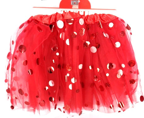 Red Shining Dot Tutu - Yakedas Party and Giftware