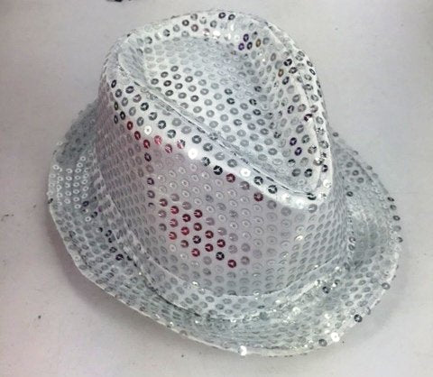 Shinning Hat Sequin Silver
