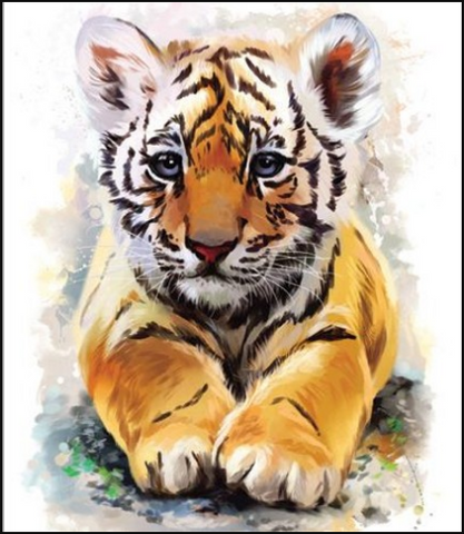 Diamond Art - TIGER CUB