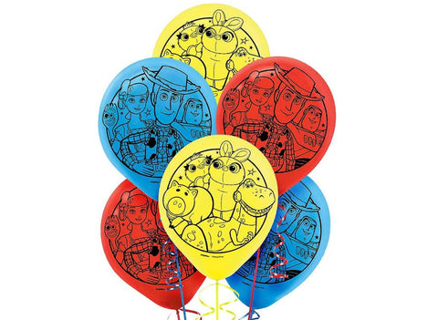 Toy Story Balloons 6pk - Yakedas Party and Giftware