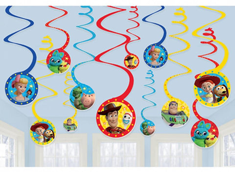 Toy Story  Hanging Spiral Decorations - Yakedas Party and Giftware