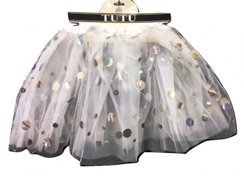 White Shining Dot Tutu - Yakedas Party and Giftware