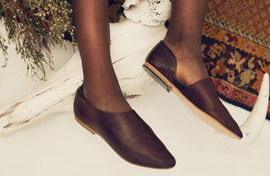 Akeelah Slipper In Espresso - Matsidiso South Africa