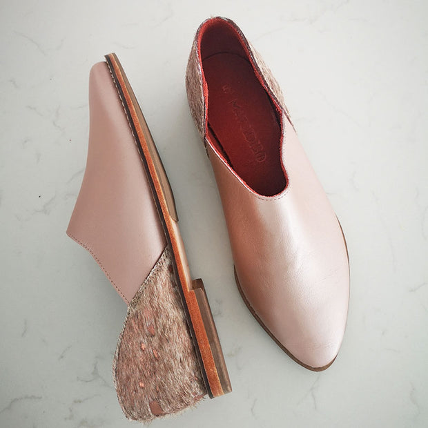 Ausi Slip On In Metallic Rose / Nguni Rose