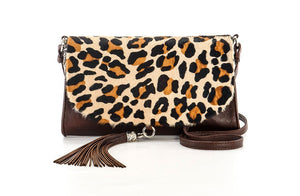 Clutch In Leopard Print - Matsidiso South Africa