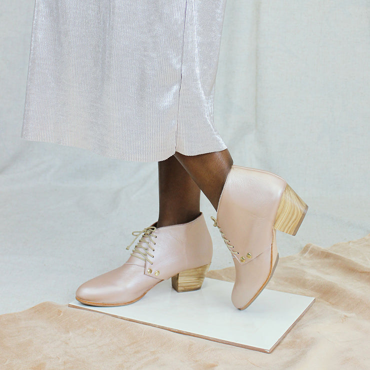 Dineo Bootie in Metallic Rose