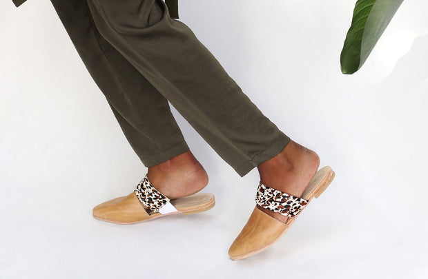 Womens Leather Slip-Ons, Ethically Handcrated by Matsidiso South Africa