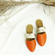 Lea Slider In Orange / Nguni Brown