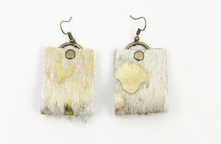 Oba Loop Earrings In Nguni Gold - Matsidiso South Africa