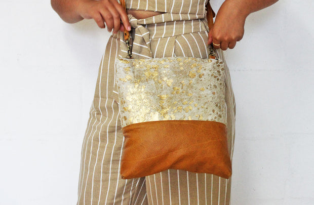 Asanda Bag In Nguni Gold / Mustard