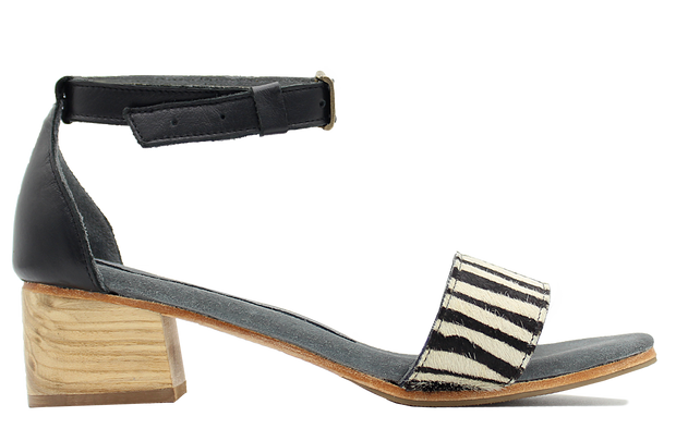 Patrica Block Heel In Zebra / Black