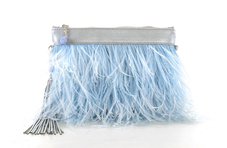 The Day Sling In Blue Ostrich Feathers - Matsidiso South Africa