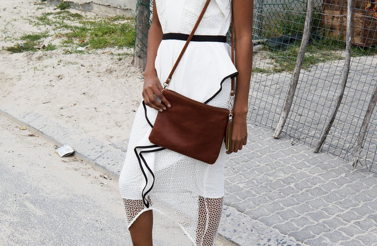 The Day Sling In Toffee Leather - Matsidiso South Africa