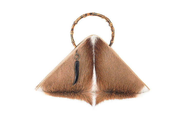 The Sanaa Triangle Bag In Springbok / Natural - Matsidiso South Africa