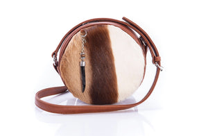 The Virago Round Springbok Bag - Matsidiso South Africa