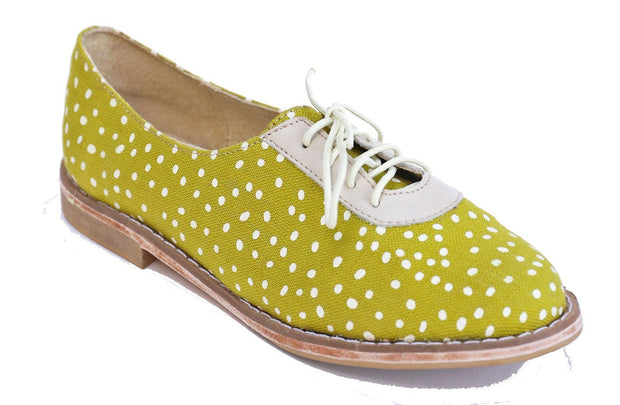 Xolani Oxford in Chartreuse / White Dots - Matsidiso South Africa