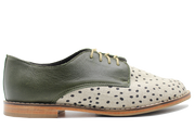 Zola Oxford In Black Dots / Olive