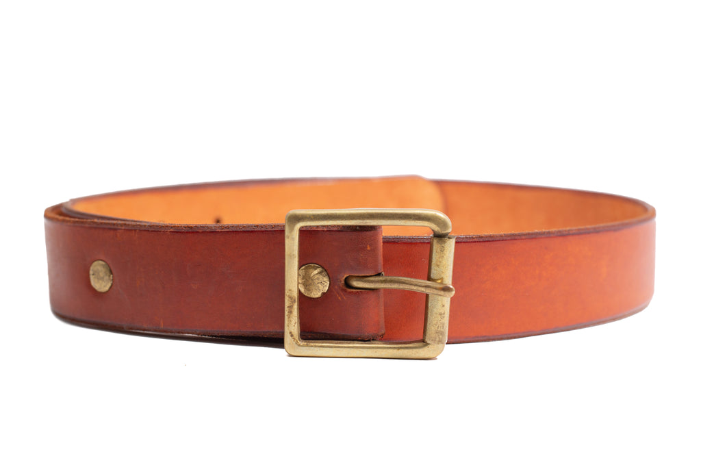 Leather 1 Prong Belt- Red
