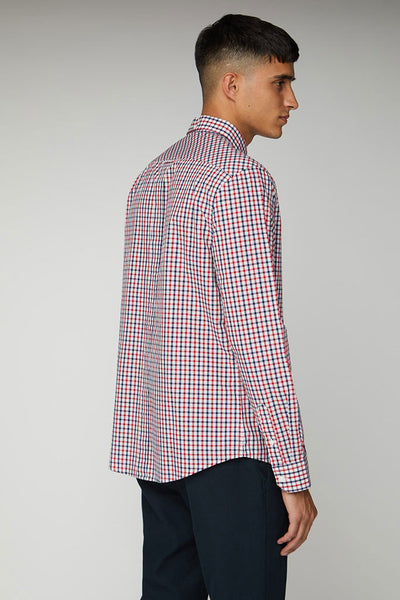BEN SHERMAN HOUSE CHECK L/S MEN SHIRT Blue Depths