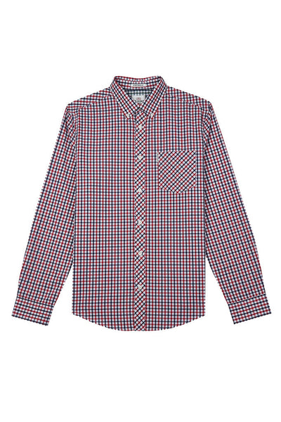 Camisa Hombre BEN SHERMAN HOUSE CHECK L/S MEN SHIRT Blue Depths