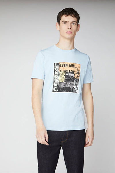BEN SHERMAN REMIX MEN TEE Sky