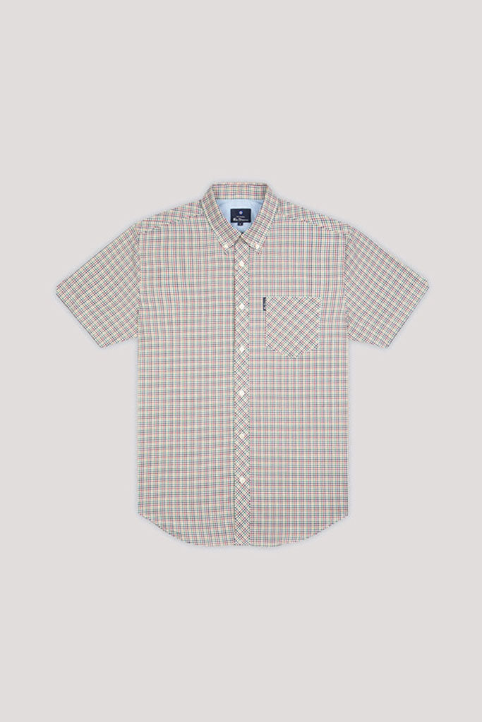 Camisa Hombre BEN SHERMAN MINI GINGHAM S/S MEN SHIRT Dijon