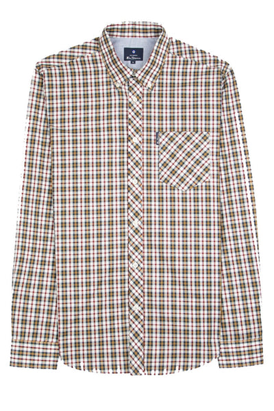 BEN SHERMAN CLASSIC CHECK L/S MEN SHIRT Dijon